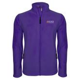 Fleece Full Zip Purple Jacket-Goshen College Stacked