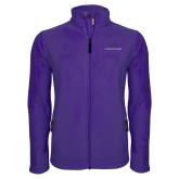 Fleece Full Zip Purple Jacket-Goshen College Logo