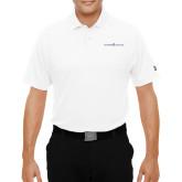 Under Armour White Performance Polo-Goshen College Logo