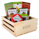 Wooden Gift Crate-Goshen College Stacked Engraved