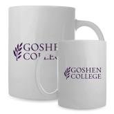 Full Color White Mug 15oz-Goshen College Stacked