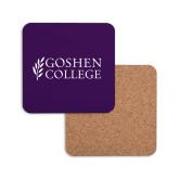 Hardboard Coaster w/Cork Backing-Goshen College Stacked