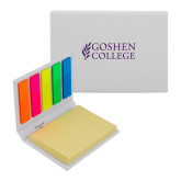 Micro Sticky Book-Goshen College Stacked
