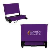 Stadium Chair Purple-Goshen College Stacked