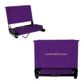 Stadium Chair Purple-Goshen College Logo