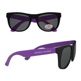 Purple Sunglasses-Goshen College Flat Word Mark