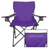 Deluxe Purple Captains Chair-Goshen College Flat Word Mark