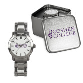 Mens Stainless Steel Fashion Watch-Goshen College Stacked