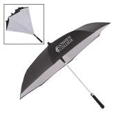 48 Inch Auto Open Black/White Inversion Umbrella-Goshen College Stacked
