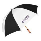 64 Inch Black/Whit Umbrella-Goshen College Stacked