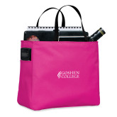 Tropical Pink Essential Tote-Goshen College Stacked