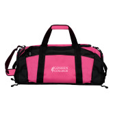 Tropical Pink Gym Bag-Goshen College Stacked