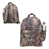 Heritage Supply Camo Computer Backpack-Goshen College Stacked