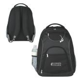 The Ultimate Black Computer Backpack-Goshen College Stacked