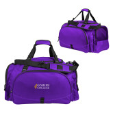 Challenger Team Purple Sport Bag-Goshen College Stacked