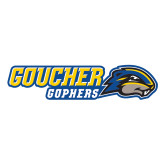 Large Decal-Goucher Gophers Horizontal