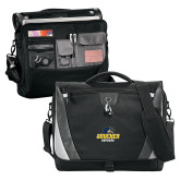 Slope Black/Grey Compu Messenger Bag-Goucher Gophers Stacked