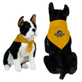 Gold Pet Bandana-Goucher College Stacked