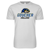 Next Level SoftStyle White T Shirt-Goucher College Stacked
