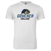 Next Level Heather White Tri Blend Crew-Goucher College Stacked
