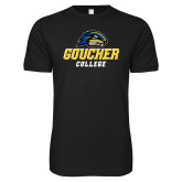 Next Level SoftStyle Black T Shirt-Goucher College Stacked