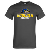 Charcoal T Shirt-Goucher Gophers Stacked