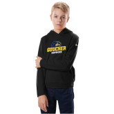 Youth Under Armour Black Fleece Hoodie-Goucher Gophers Stacked
