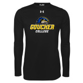 Under Armour Black Long Sleeve Tech Tee-Goucher College Stacked