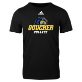 Adidas Black Logo T Shirt-Goucher College Stacked