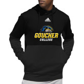Adidas Black Team Issue Hoodie-Goucher College Stacked