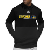 Adidas Black Team Issue Hoodie-Goucher College Horizontal