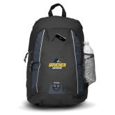 Impulse Black Backpack-Goucher Gophers Stacked