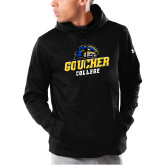 Under Armour Black Armour Fleece Hoodie-Goucher College Stacked