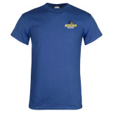 Royal T Shirt-Goucher Gophers Stacked