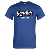 Royal T Shirt-Goucher College Script