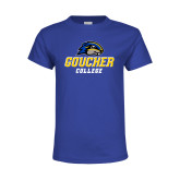 Youth Royal T Shirt-Goucher College Stacked
