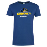 Ladies Royal T Shirt-Goucher Gophers Stacked