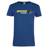 Ladies Royal T Shirt-Goucher College Horizontal