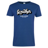 Ladies Royal T Shirt-Goucher College Script