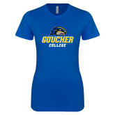 Next Level Ladies SoftStyle Junior Fitted Royal Tee-Goucher College Stacked