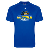 Under Armour Royal Tech Tee-Goucher College Stacked