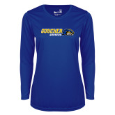 Ladies Syntrel Performance Royal Longsleeve Shirt-Goucher Gophers Horizontal