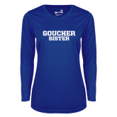 Ladies Syntrel Performance Royal Longsleeve Shirt-Sister