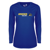 Ladies Syntrel Performance Royal Longsleeve Shirt-Goucher College Horizontal