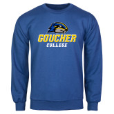 Royal Fleece Crew-Goucher College Stacked