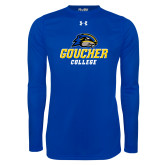 Under Armour Royal Long Sleeve Tech Tee-Goucher College Stacked