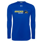 Under Armour Royal Long Sleeve Tech Tee-Goucher College Horizontal