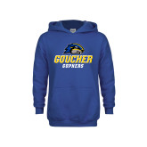 Youth Royal Fleece Hoodie-Goucher Gophers Stacked