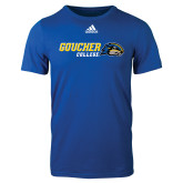 Adidas Royal Logo T Shirt-Goucher College Horizontal