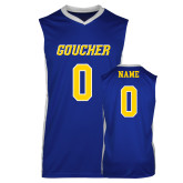 Replica Royal Adult Basketball Jersey-Blue Jersey